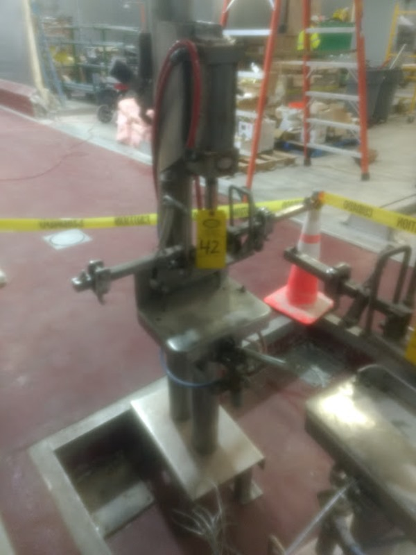 Lot 42 - Stainless Steel Pneumatic Ham Mold Lid Closer ($25.00 Required Loading Fee- Rigger: Nebraska