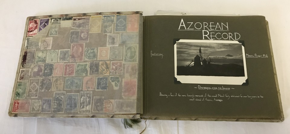 Lot 154 - An album with a Photograph record of Naval Party 912 stationed on the Island Fayal in The Azores