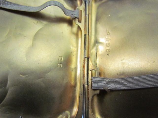Lot 15 - Silver cigarette case Birmingham 1916 maker HM Henry Matthews