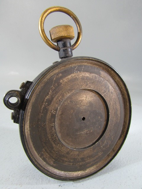Lot 48 - E R Watts No.1498 Surveying Aneroid Barometer