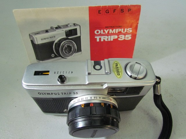 Lot 49 - Olympus Trip 35 vintage camera and manual