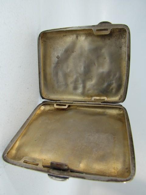 Lot 1 - Hallmarked silver cigarette case 49.6g