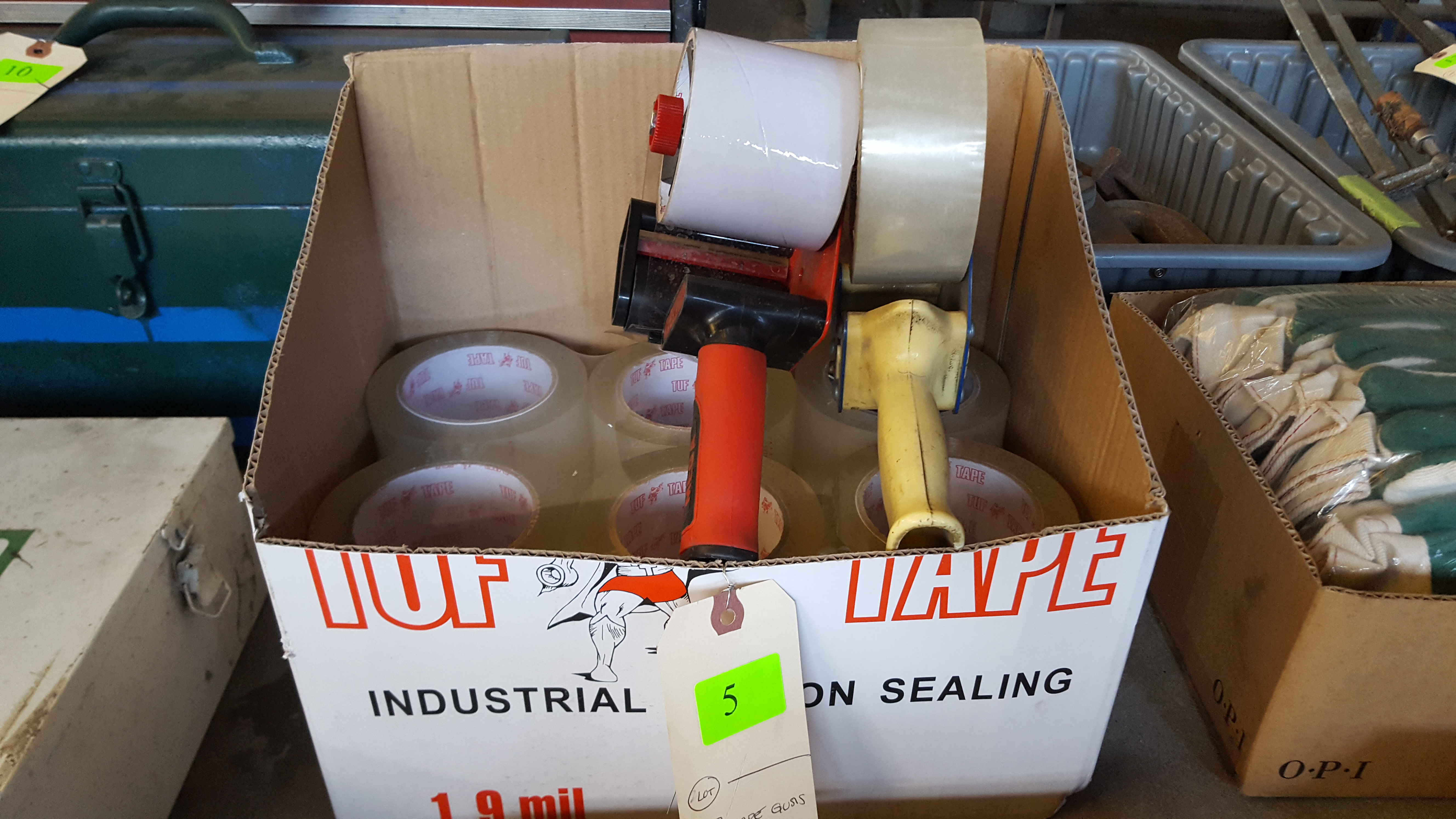 Lot 5 - 3 TAPE GUNS AND TAPE
