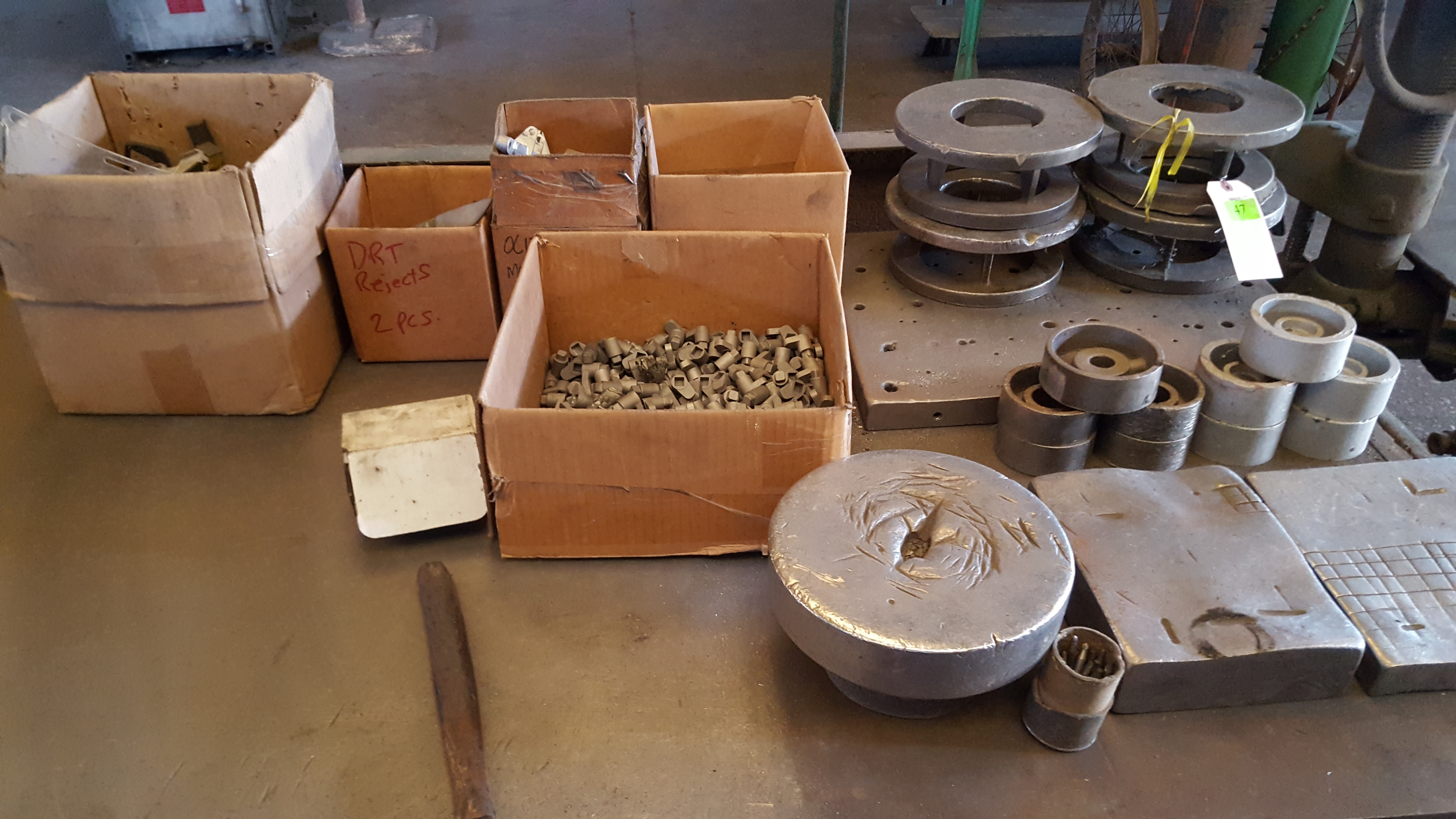 Lot 47 - 2 TABLES WITH ASST PARTS