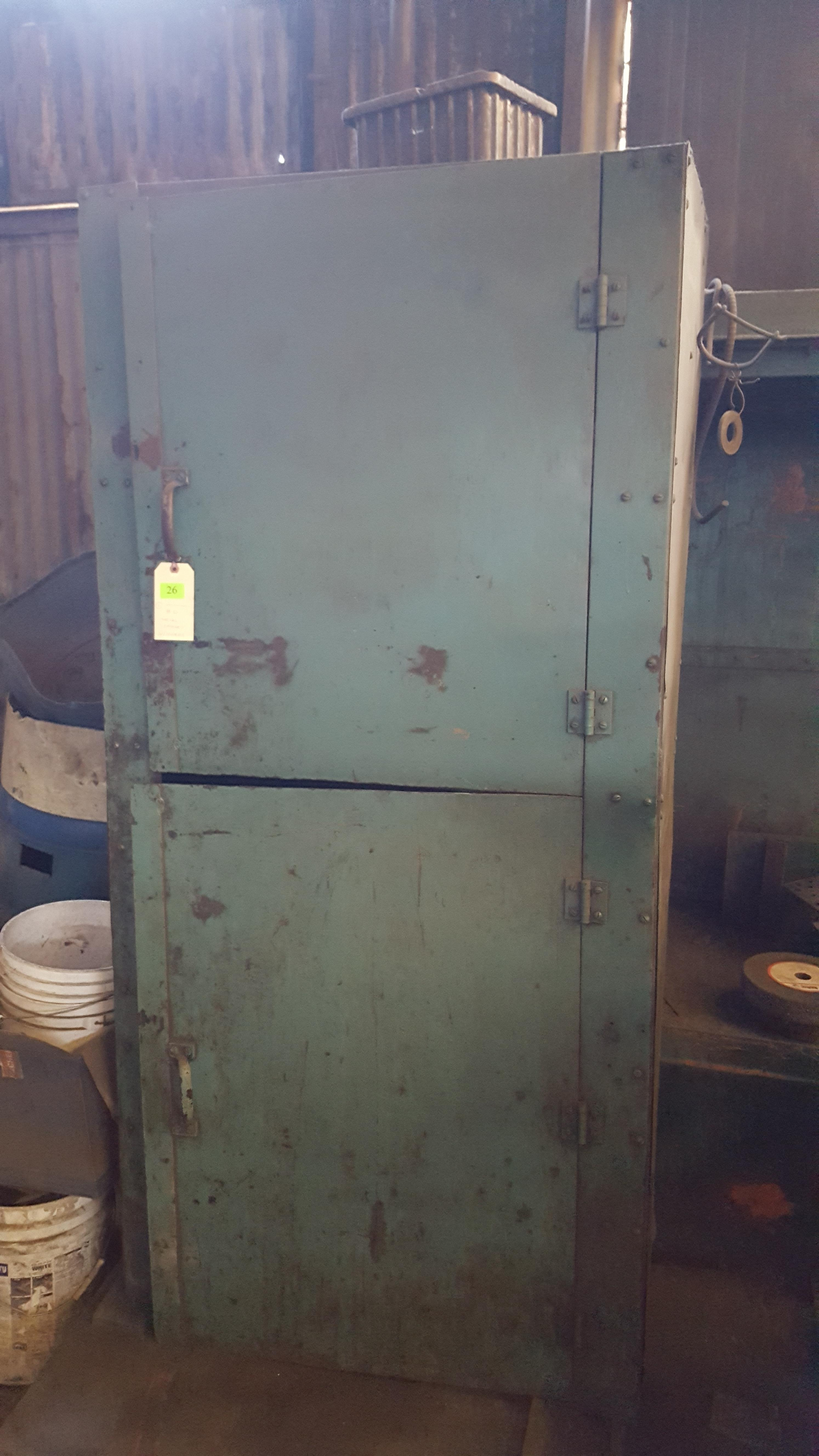Lot 26 - HD METAL CABINET AND CONTENTS