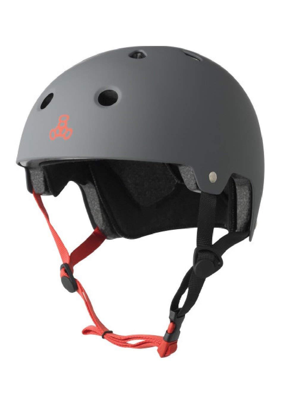 Lot 17 - Triple 8 Brainsaver EPS Unisex Rubber Helmet, Grey (Grey), L/XL
