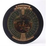 Schießscheibe, dat.1923 Ursprünglich Erinnerungsscheibe mit Preisen für die Teuerung der