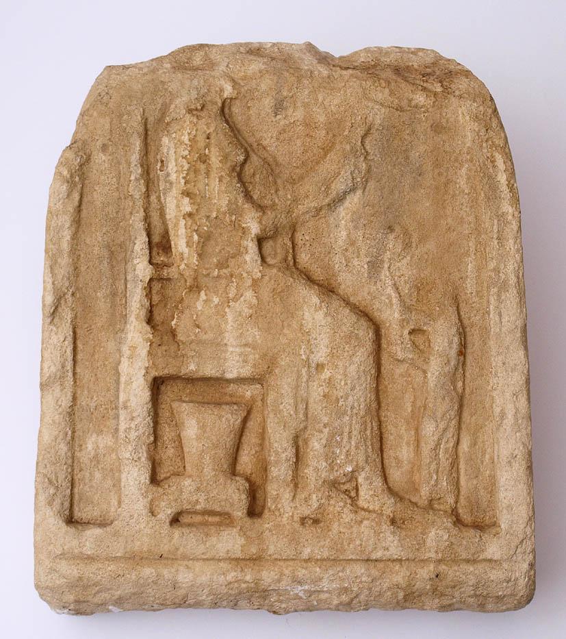 Los 26 - Museumsreplik Kunstharzabformung einer Grabstele, Kleinasien, 4.Jhdt. v.Chr. H.48cm.