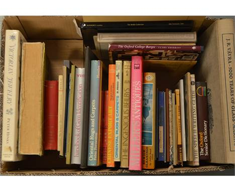 A selection of Antique subject books and catalogues, including: Jewellery, Beilby Glassware, and other interest.