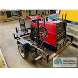 LINCOLN RANGER 250 GENSET WELDER WITH 6' SINGLE AXLE TRAILER; S/N U1020619592, ONLY 72 HOURS