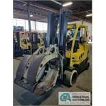 12,000 LB. CAPACITY HYSTER MODEL S120FT-PRS LP GAS CUSHION TIRE LIFT TRUCK WITH CASCADE