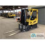 4,000 LB HYSTER MODEL S50FT LP GAS SOLID TIRE LIFT TRUCK WITH CASCADE 45 S-FPS-160 FORK