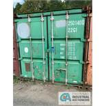 8' WIDE X 8' TALL X 20' LONG STEEL SHIPPING CONTAINER (GREEN) ***LOCATED IN MILFORD, OHIO***