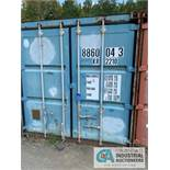 8' WIDE X 8' TALL X 20' LONG STEEL SHIPPING CONTAINER (BLUE) ***LOCATED IN MILFORD, OHIO***