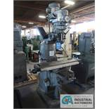 "1.5 H.P. BRIDGEPORT VERTICAL MILLING MACHINE, S/N 219581 WITH ANILAM MINI WIZARD PRO, 9"" X 42"""
