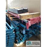 VARIOUS SIZE & LENGTH TEAR-DROP STYLE PALLET RACK CROSS BEAMS WITH SHELVING