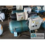 2 H.P. COMPAIR MODEL 10PURS HORIZONTAL TANK MOUNTED AIR COMPRESSOR, 30 GALLON, S/N ....0131
