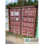 8' WIDE X 8' TALL X 20' LONG STEEL SHIPPING CONTAINER (RED) ***LOCATED IN MILFORD, OHIO***