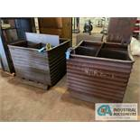 """38"""" X 38"""" X 29"""" CORRUGATED STEEL TUBS ***LOCATED IN MILFORD, OHIO***"""