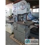 "16"" DO ALL MODEL 1612-1 VERTICAL BAND SAW, S/N 148-60258, BLADE WELDER, 24"" X 24"" TABLE"