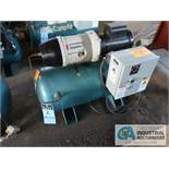 2 H.P. COMPAIR MODEL 10PURS HORIZONTAL TANK MOUNTED AIR COMPRESSOR, 30 GALLON, S/N ....1195