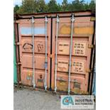 8' WIDE X 8' TALL X 20' LONG STEEL SHIPPING CONTAINER (ORANGE) ***LOCATED IN MILFORD, OHIO***