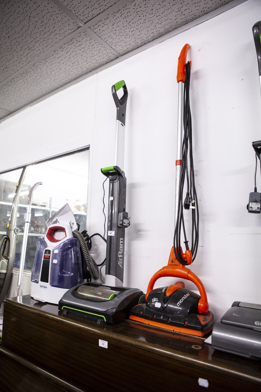 Lot 87 - MONSTER UPRIGHT ELECTRIC VACUUM CLEANER, AIR RAM HIGH PERFORMANCE VACUUM CLEANER; BISSELL SPOT CLEAN