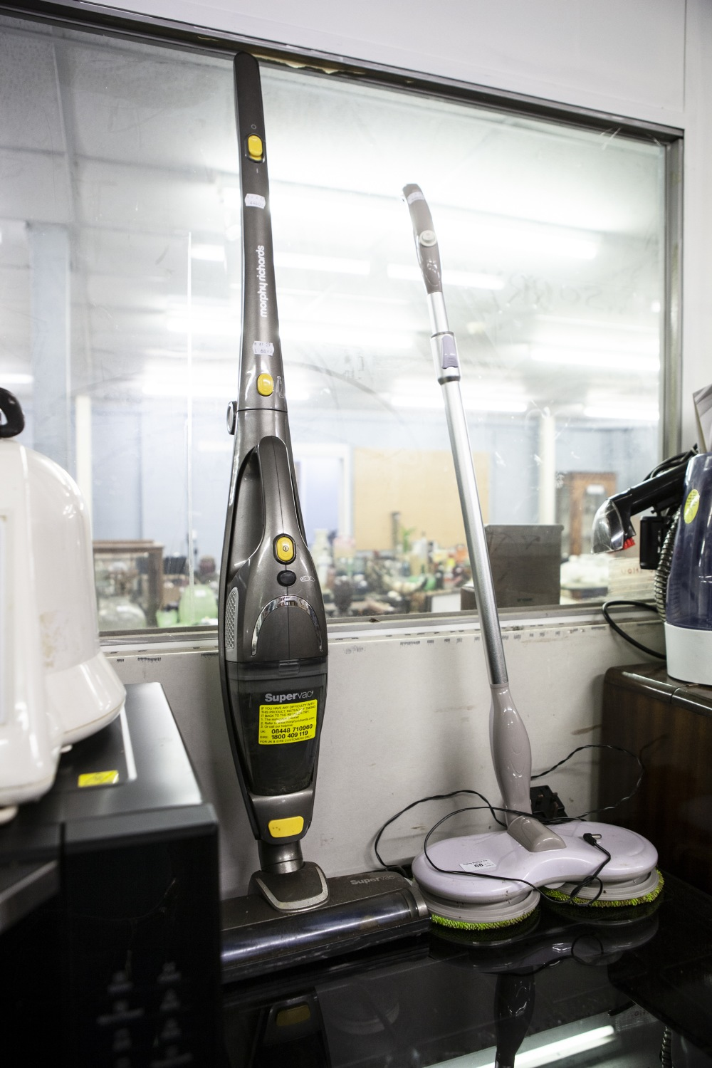 Lot 68 - A CORDLESS FLOOR POLISHER AND A SUPERVAC CORDLESS VACUUM CLEANER