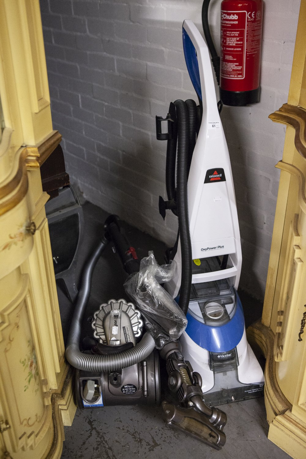 Lot 61 - DYSON BABY VACUUM CLEANER, BISSELL OXYPOWER PLUS MICROBAN UPRIGHT VACUUM CLEANER