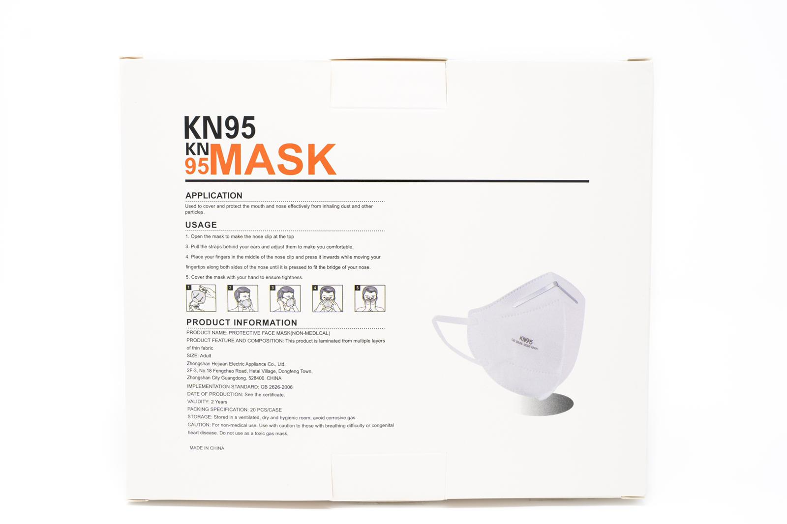 1000 pcs Brand new sealed Kn95 Mask