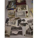 COLLECTION OF 100-150 VARIOUS AGED POSTCARDS AND PHOTOS