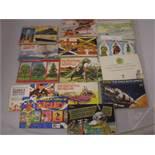 14 TEA CARDS IN BOOKS