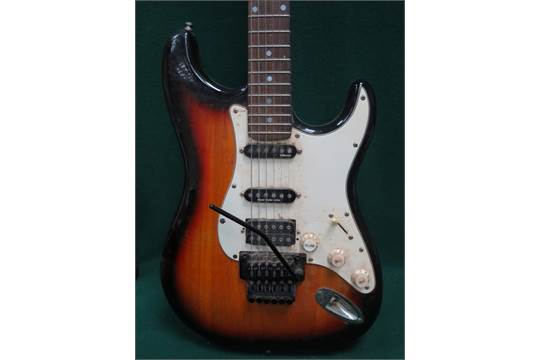 FENDER SQUIER STRATOCASTER ELECTRIC GUITAR, SERIAL NUMBER