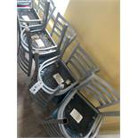 (30) Upholstered Seat Metal Base Chairs