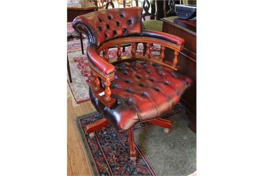Astonishing A Norwegian Ring Mekanikk Captains Swivel Office Chair With Machost Co Dining Chair Design Ideas Machostcouk