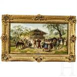 Louis Braun (*1836 Schwäbisch Hall; † 1916 München), signiert und datiert, Gemälde mit Volks