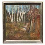 "Phillipp Vergott (1887 -1939) - ""Waldlandschaft mit Birken"", Wien, um 1920"