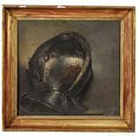 Gemälde eines Mantelhelmes, signiert J. PAY und datiert 1883
