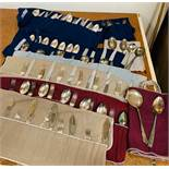 A Selection of silver plated cutlery