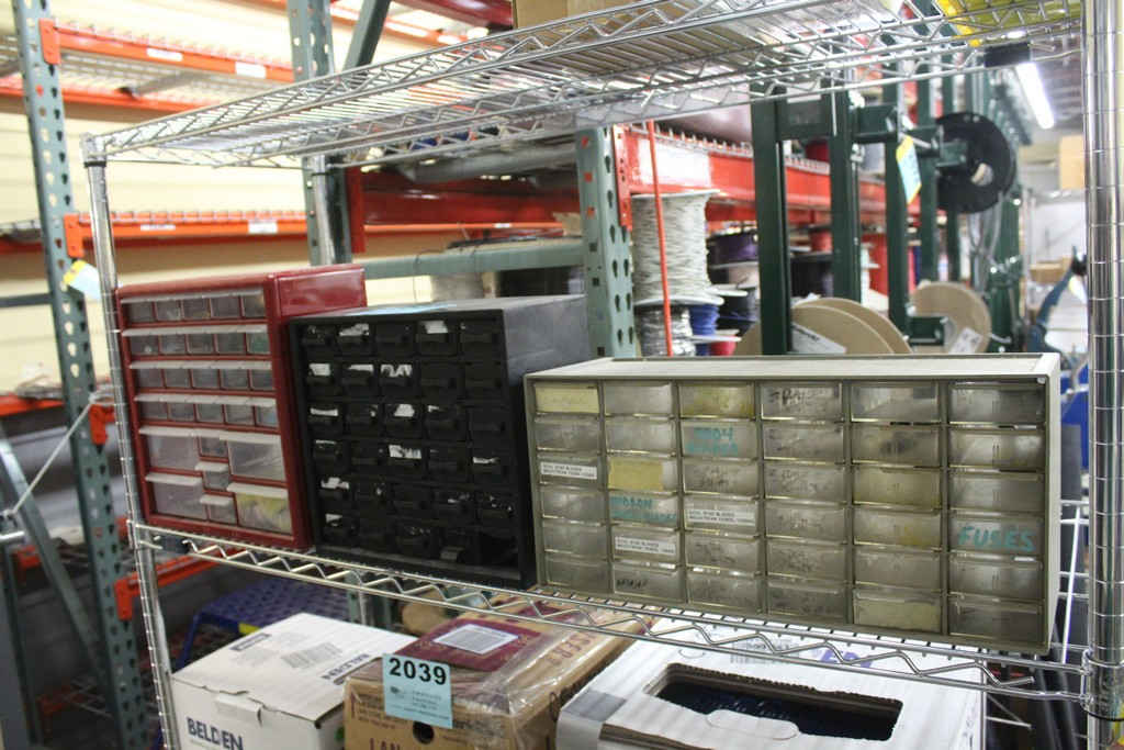 Lot 2002 - (3) MULTI-SLOT PARTS CABINETS WITH CONTENTS