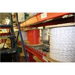 ASSORTED WIRE SPOOLS ON SHELF