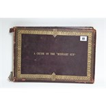 "Lot 89 - A Victorian leather-bound family photograph album titled: ""A CRUISE ON THE MIDNIGHT SUN"""