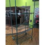 3 Tier Powder Coated Metro Rack on Casters
