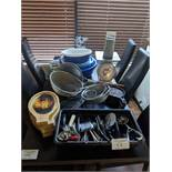 Table Lot of Misc. Kitchen Supplies