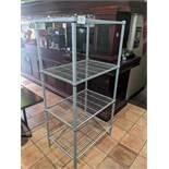"4 Tier 24 x 36"" Grey Metro Rack"