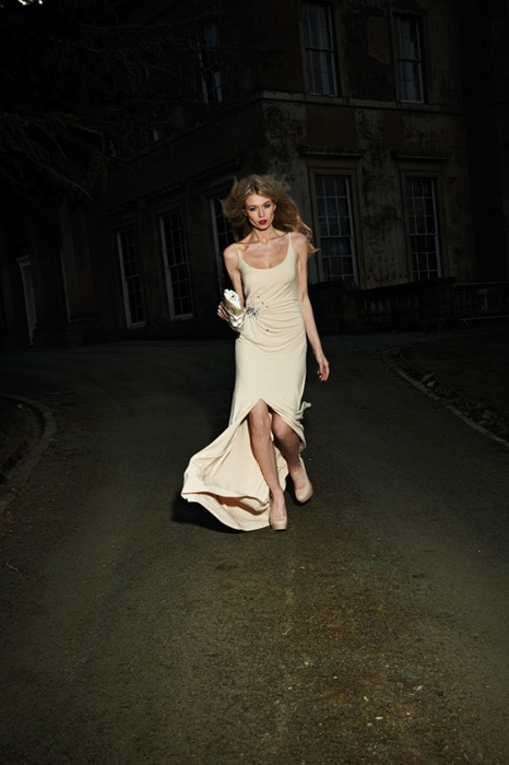 Lot 33 - Full Length Gown with Bling Feature Size 8