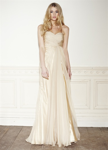 Lot 6 - Full Length Strapless Gown Size 14
