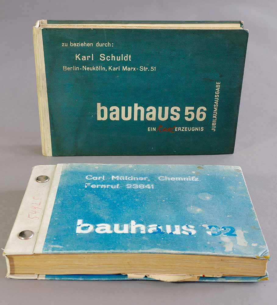 Lot 360 - Rasch2 Bauhaus wallpaper pattern books, 1932 and anniversary issue 1956, Tapetenmusterbücher1932 and