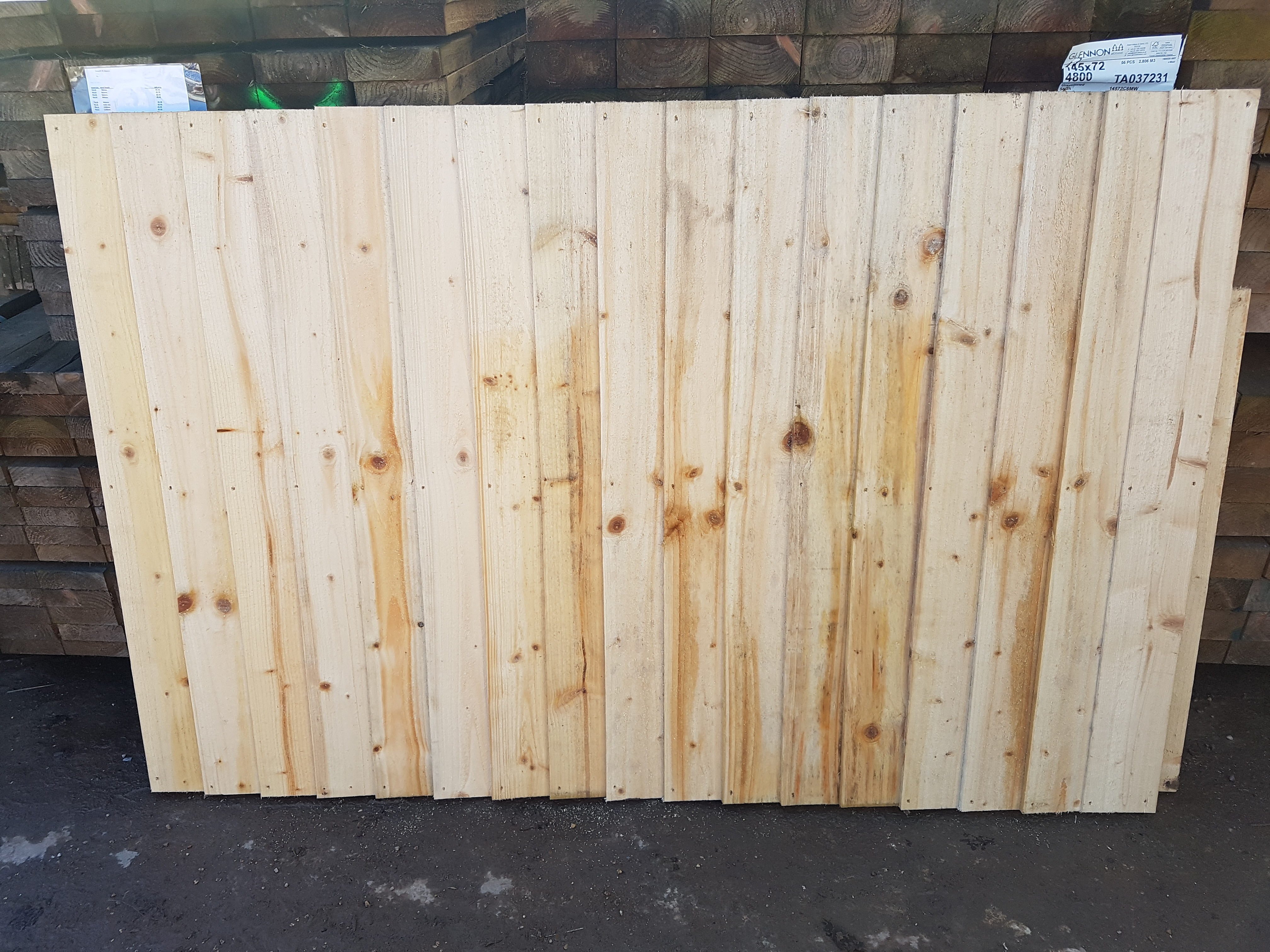 feather edge fence panels 4ft x 6ft in packs of 10 appriasal  untreated wood location  astley  cv