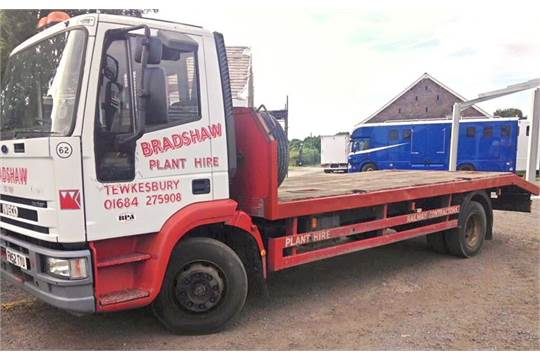 An Iveco Tector 13 5 tonne Plant Wagon with Beavertail Body
